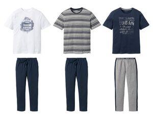 LIVERGY® Pyjama Herren, mit Eingrifftaschen, mit Baumwolle