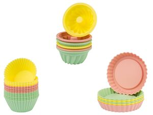 ERNESTO® Muffin Set, 12-teilig, mit Antihaftwirkung, aus Silikon, spülmaschinengeeignet