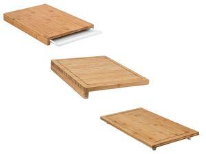 ERNESTO® Schneidebrett/ Abdeckplatte, in klingenschonender Qualität, aus Bambus
