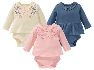 LUPILU® Baby Bodykleid Mädchen, mit Knöpfung, hoher Bio-Baumwollanteil