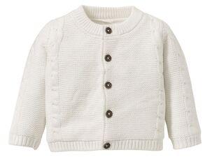 LUPILU® Baby Strickjacke Jungen, mit Knöpfen, Single-Jerseyfutter, aus Bio-Baumwolle
