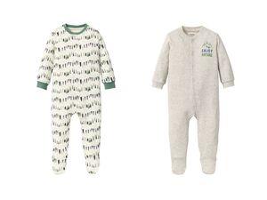 LUPILU® Baby Schlafoverall Jungen, mit Druckknöpfen, aus Bio-Baumwolle