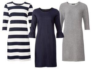 ESMARA® Kleid Damen, mit 3/4-Ärmel, mit Viskose, mit Elasthan