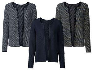 ESMARA® Strickjacke Damen, in Bouclé-Design, mit Baumwolle