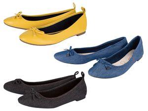 ESMARA® Ballerinas Damen, mit Schleife, Textilfutter, flexible Laufsohle