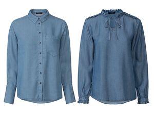ESMARA® Bluse Damen, mit verlängerter Rückenpartie, aus Lyocell