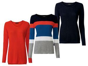 ESMARA®  Pullover Damen, aus Strukturstrick, mit Baumwolle, Viskoseanteil
