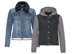 ESMARA® Jeansjacke Damen, mit Eingrifftaschen, Brusttaschen, mit Baumwolle