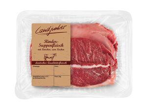 Frisches Rindersuppenfleisch