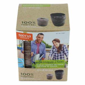 Kokos-Quelltabletten, 50 mm, 12er Pack
