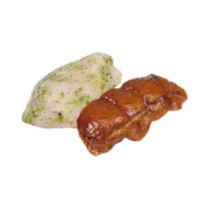 Deutsche Hähnchensteaks gefüllt
