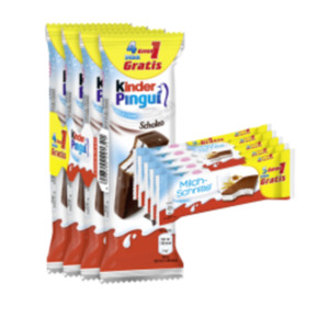 Ferrero Milchschnitte, Kinder Pingui oder Maxi King