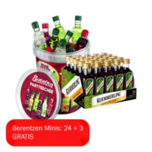Kuemmerling, Berentzen Minis oder Puschkin Party Shooter