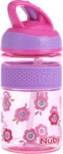 Nuby Freestyle Tritan Trinkhalmbecher pink 360ml