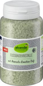 alverde NATURKOSMETIK Fußbadekristalle mit Meersalz-Limetten-Duft