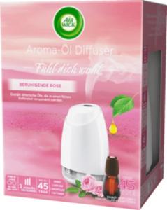 AirWick Lufterfrischer Aroma-Öl-Diffuser Beruhigende Rose Starter-Set