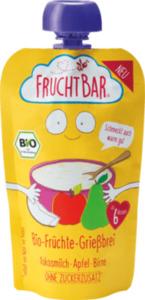 FruchtBar Quetschbeutel Bio-Grießbrei, Kokosmilch-Apfel-Birne ab 6. Monat