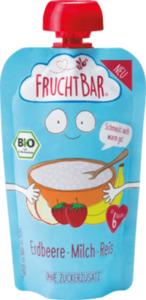 FruchtBar Quetschbeutel Milch-Reis-Erdbeere, ab 6 Monaten