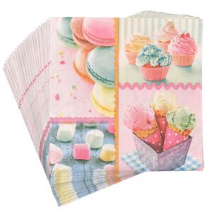 20 Servietten mit Cupcake-Motiv