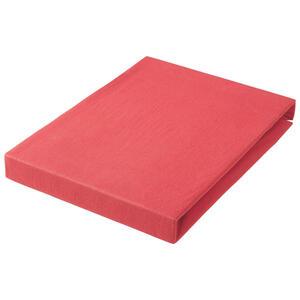 SPANNBETTTUCH Jersey Rot bügelfrei, für Wasserbetten geeignet