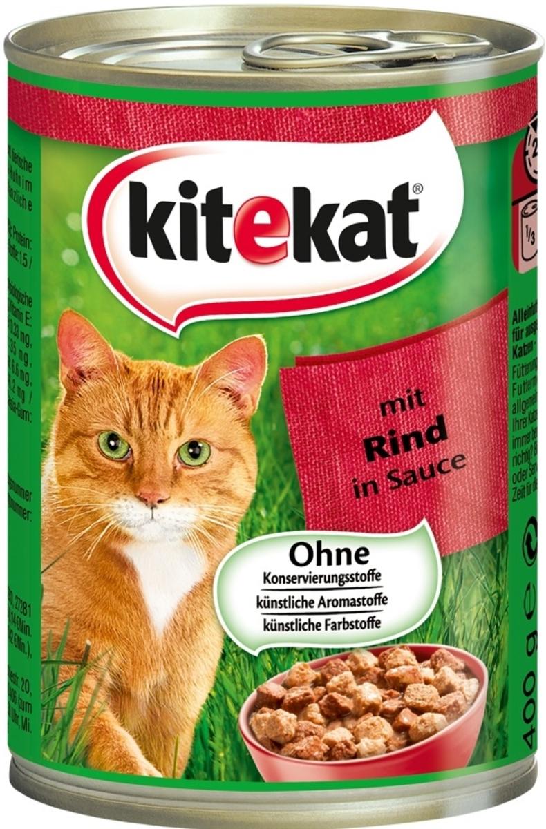 Bild 2 von Kitekat mit Rind in Sauce Katzenfutter nass 0,4 kg