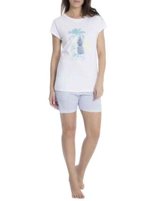 Seidensticker Kurz-Pyjama, gestreift, für Damen