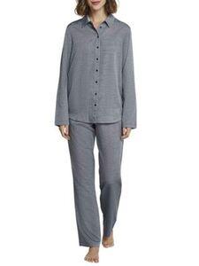 Seidensticker Pyjama durchgeknöpft, Webjacquard, für Damen