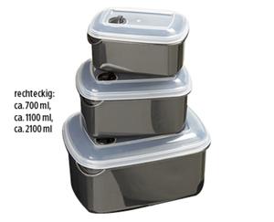 CROFTON®  Gefrierdosen mit Ventil, 3er-Set