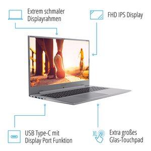 MEDION AKOYA® P17605, Intel® Core™ i5-10210U, Windows10Home, 43,9 cm (17,3'') FHD Display, MX250, 512 GB SSD, 8 GB RAM, Schlankes Design, Schnellladefunktion, Notebook