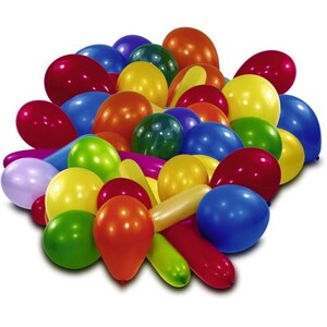 Latexballons im Beutel, 50 Stk., sortiert