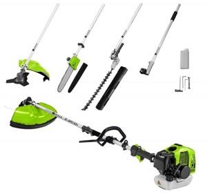 Zipper Benzin Gartenpflege-Set ZI-GPS182J ,  4 in 1 Hochentaster, Sense, Trimmer, Heckenschere