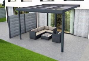 Gutta Premium Terrassendach 3094 x 3060 mm, anthrazit, PC bronce 16 mm