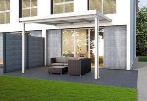 Gutta Premium Terrassendach weiß, 3094 x 3060 mm, PC weiß opal 16 mm