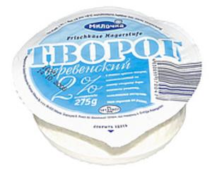 """Frischkäse """"Tworog Derewenskij"""" 2% Fett i.Tr."""