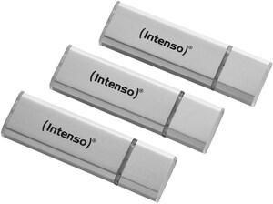 Alu Line USB 2.0 (32GB) Speicherstick 3er Pack silber