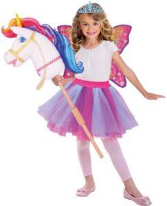 Kostüm Barbie Hobby Regenbogen Einhorn Gr. 128/140