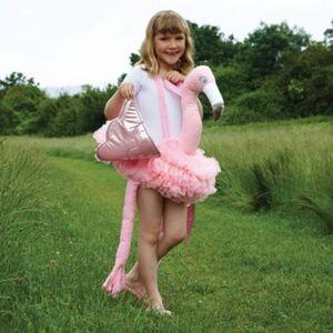 Kostüm Flamingo-Ritt, 1-tlg. Gr. 98/128
