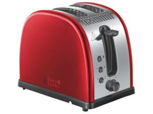 RUSSELL HOBBS 21291-56 Legacy Toaster Edelstahl/Rot/Schwarz (1300 Watt, Schlitze: 2)