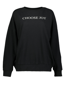 Damen Pullover mit Message-Print