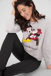 C&A Weihnachts-Sweatshirt-Disney, Grau, Größe: L