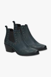 C&A Venturini Milano-Leder-Stiefeletten, Blau, Größe: 38