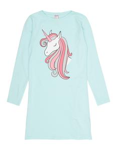 Mädchen Nachthemd mit Einhorn-Print