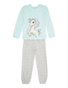 Mädchen Pyjama mit Einhorn-Print