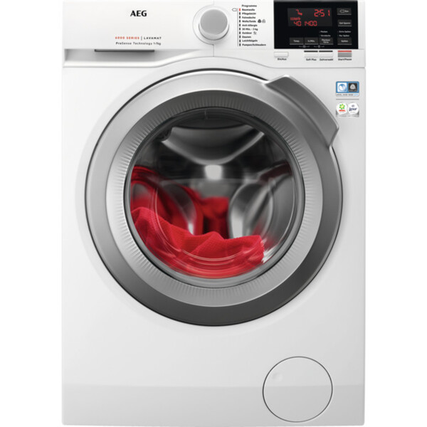 AEG Waschmaschine L6FB647FH (A+++, 7 kg Fasungsvermögen, 1400 U/min, Schontrommel, Aquastop, Display, Inverter)