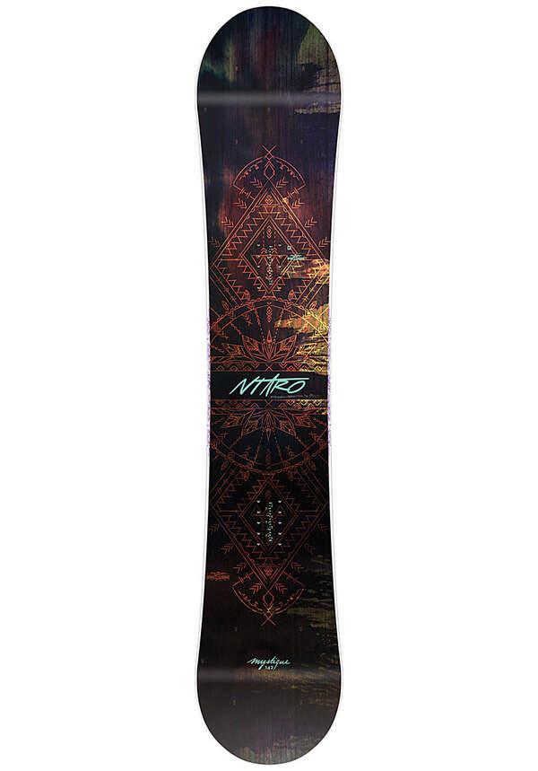 NITRO Mystique 142cm - Snowboard für Damen - Mehrfarbig
