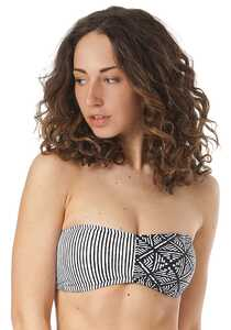 Rip Curl Coast To Coast Bandeau - Bikini Oberteil für Damen - Streifen