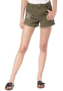 Vila Viannabel RW - Shorts für Damen - Grün