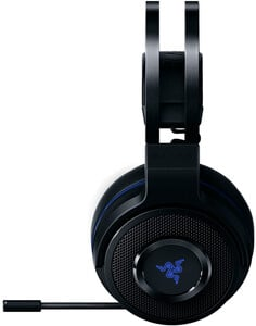 RAZER Thresher 7.1 schwarz/blau Gaming-Headset (7.1-Surround-Sound, kabellos, leichte Ohrpolster, RZ04-02230100-R3M1)
