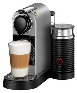 KRUPS XN760B New CitiZ&milk Nespresso-System (19 bar, integrierter Aeroccino, 1 l Wassertank, Abschaltautomatik)