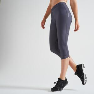 7/8-Leggings FLE 500R Fitness Cardio Damen grau
